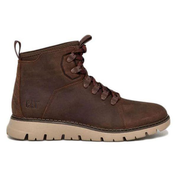 Poważnie Skórzane trapery w kolorze jasnobrązowym - Brązowe buty zimowe FA67