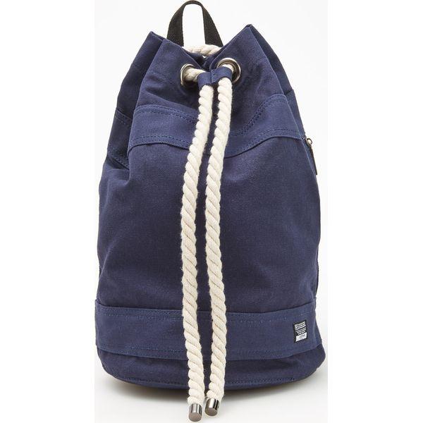 fd415fe0c4eb5 Plecak worek z regulacją na sznurek - Granatowy - Niebieskie plecaki ...