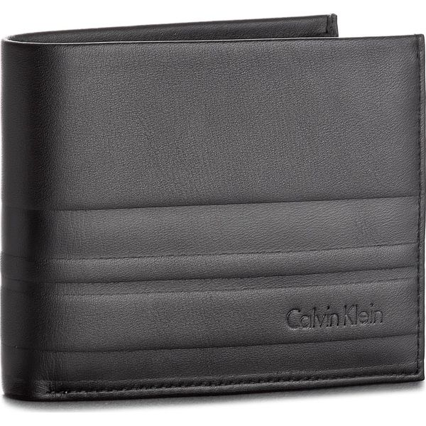26d4a19768624 Duży Portfel Męski CALVIN KLEIN BLACK LABEL - Stripe 5CC Coin ...