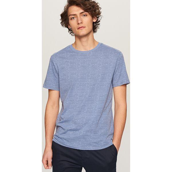 971d6a0b59b537 Koszulka w paski - Niebieski - Niebieskie t-shirty męskie Reserved ...