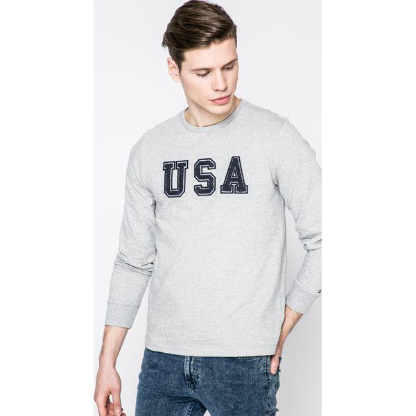 329b232db3837 Tommy Hilfiger - Bluza - Szare bluzy nierozpinane męskie marki Tommy ...