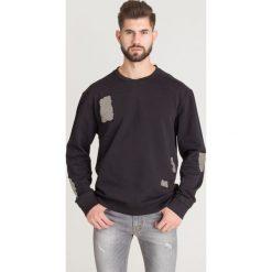f3e27ebfea6668 Odzież sportowa męska - Kolekcja lato 2019. BLUZA JUST CAVALLI. Czarne  bluzy nierozpinane męskie Just Cavalli, l, z aplikacjami,