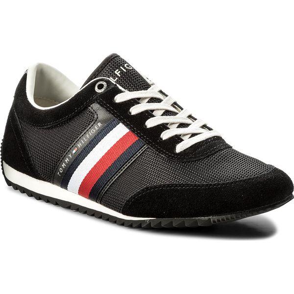 e067faf7ed85a Sneakersy TOMMY HILFIGER - Corporate Material Mix Runner FM0FM01314 Black  990 - Czarne buty sportowe na co dzień męskie marki Tommy Hilfiger, z  materiału.