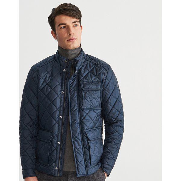 34c96729d695c Pikowana kurtka ze stójka - Granatowy - Kurtki męskie marki Reserved ...