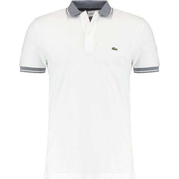 a25f11f93 Lacoste Koszulka polo blanc/marine - Białe koszulki polo męskie ...