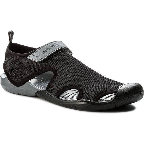 b66d3c580de7e Sandały CROCS - Swiftwater Mesh Sandal W 204597 Black - Czarne ...