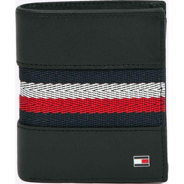 9ca6cdfeee722 Tommy Hilfiger - Portfel skórzany - Czarne portfele męskie marki ...
