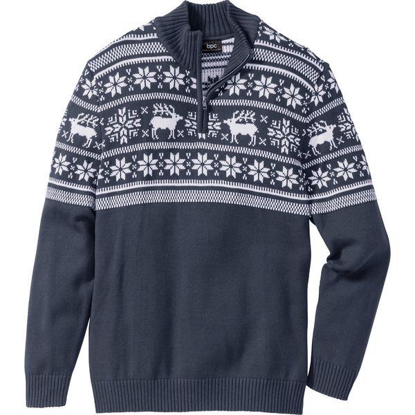 6bd4ec881016 Sweter ze stójką Regular Fit bonprix ciemnoniebieski - Swetry męskie ...