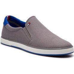 33ddcc7a57471 Tenisówki TOMMY HILFIGER - Iconic Slip On Sneaker FM0FM00597 Steel Grey  039. Trampki męskie marki