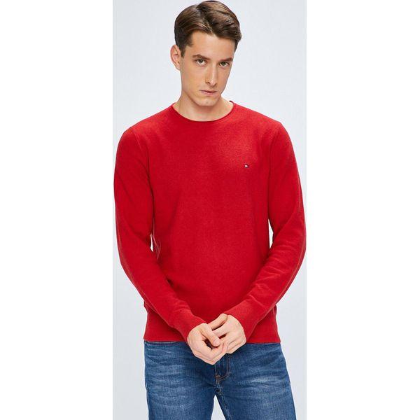 d7739df62b724 Tommy Hilfiger - Sweter - Czerwone swetry męskie marki Tommy ...