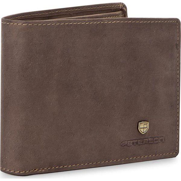 b1b1a04e2d4f9 Duży Portfel Męski PETERSON - 304 Brown 02 - Brązowe portfele męskie marki  Peterson