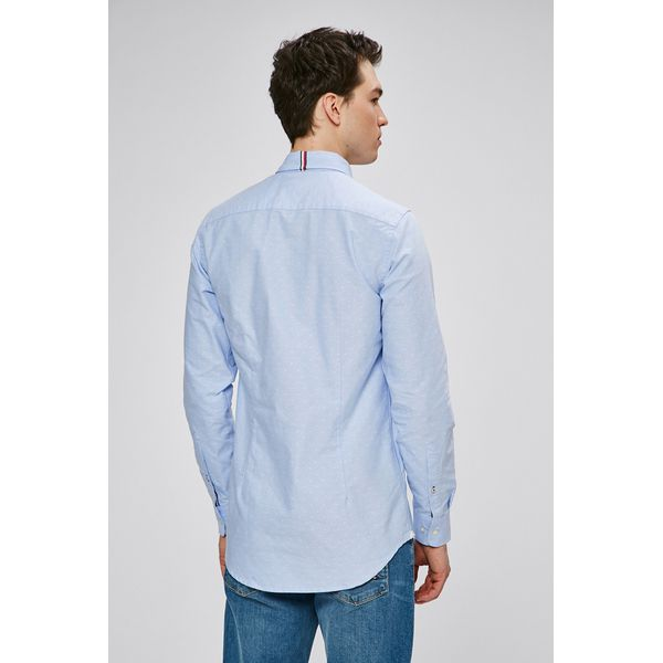 84e7c69d5348a Tommy Hilfiger - Koszula - Szare koszule męskie marki Tommy Hilfiger ...