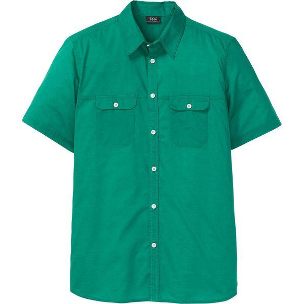 Koszula z krótkim rękawem bonprix zielony Zielone koszule  YojlQ