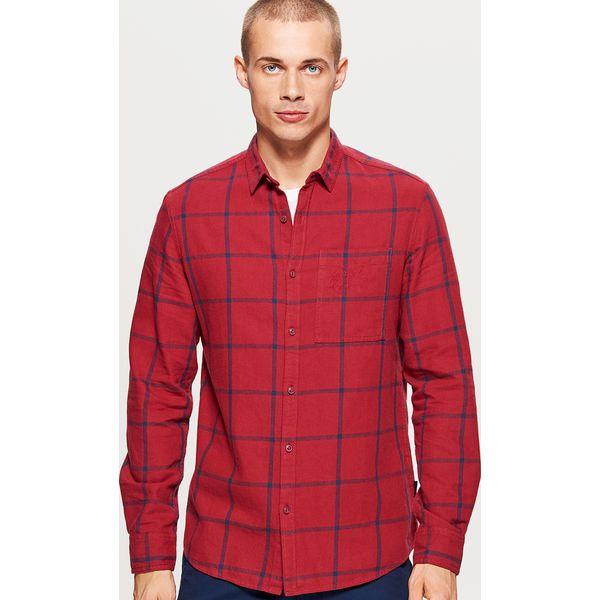 1c1b4941034469 Koszula w kratę - Bordowy - Koszule męskie Cropp. W wyprzedaży za ...