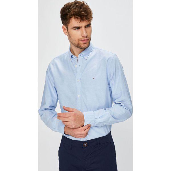9c9ca4b5f1f4e Tommy Hilfiger - Koszula Engineered Oxford - Szare koszule męskie ...