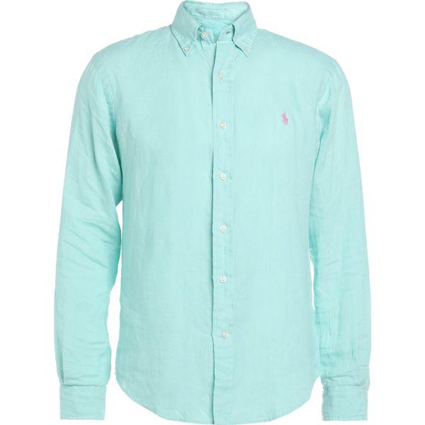 18d06de96a84ec Polo Ralph Lauren SLIM FIT Koszula bayside green - Zielone koszule męskie  Polo Ralph Lauren, m, ze lnu, polo. W wyprzedaży za 411.75 zł.