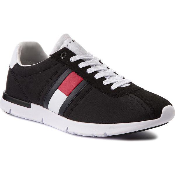 0fd7cb57bd518 Sneakersy TOMMY HILFIGER - Retro Lightweight Sneaker FM0FM01329 Black 990 - Czarne  buty sportowe na co dzień męskie marki Tommy Hilfiger, z materiału, ...