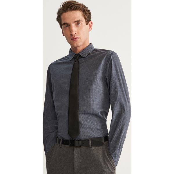 a12e89e5f Bawełniana koszula slim fit - Szary - Koszule męskie Reserved. W ...