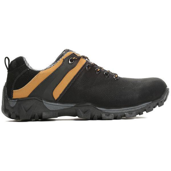 Topnotch Czarno-Camelowe Buty Sportowe Munchies - Czarne buty zimowe męskie VV47