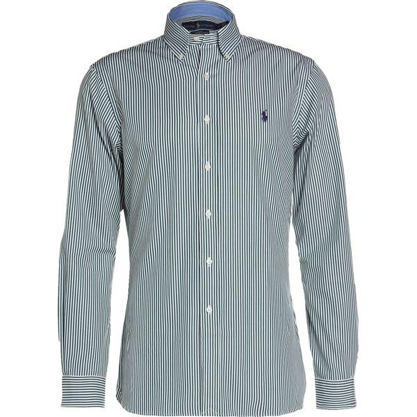 63f4ee0e73a9 Polo Ralph Lauren SLIM FIT Koszula green white - Zielone koszule ...