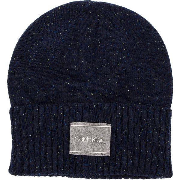 Czapka CALVIN KLEIN - Neps Beanie K50K504126 448 - Niebieskie czapki ... 23b0ab76a61f