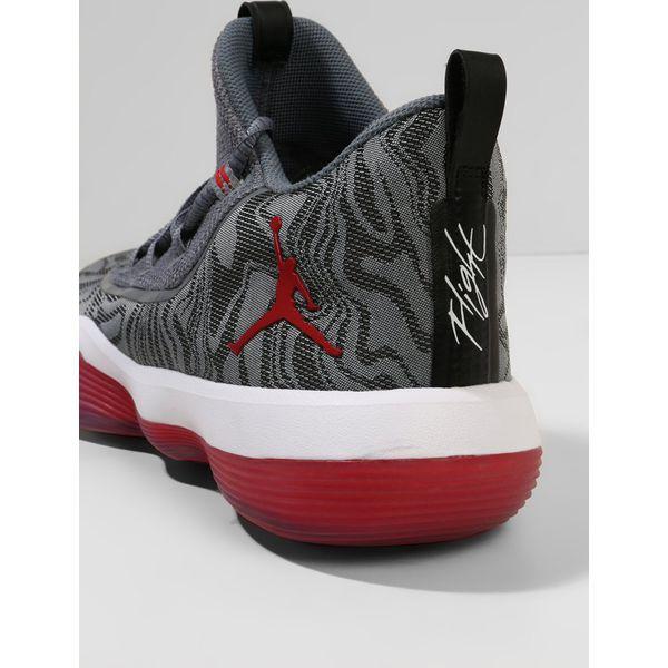 Jordan LUNAR SUPER.FLY LOW Obuwie do koszykówki wolf greyuniversity redcool greywhite szary Zalando