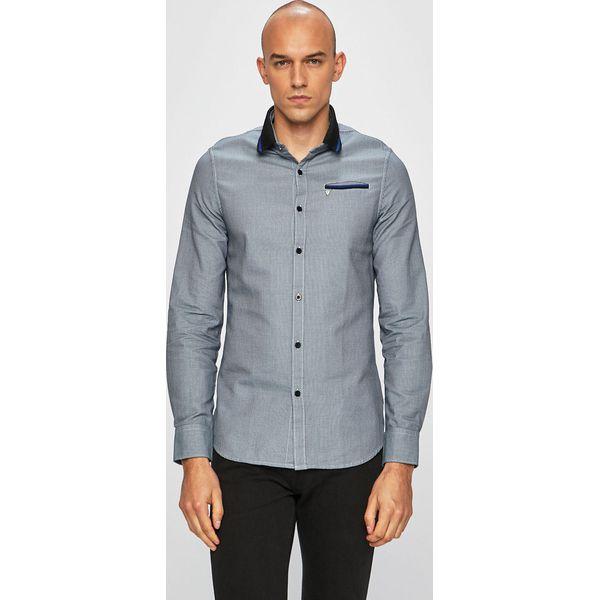 Guess Jeans Koszula Niebieskie koszule męskie Guess  8jzO0