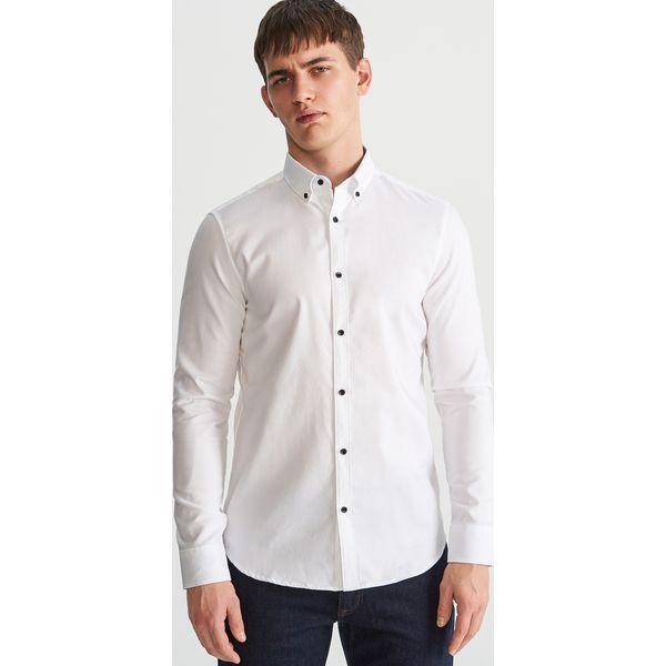 official store latest discount closer at Bawełniana koszula - Biały