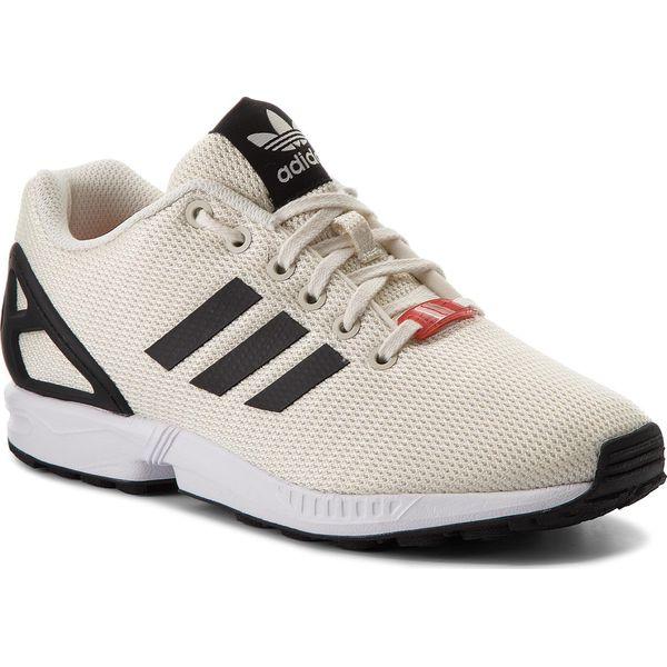 7c8c1b3045b4 Buty adidas - Zx Flux CQ2834 Owhite Cblack Ftwwht - Brązowe buty ...