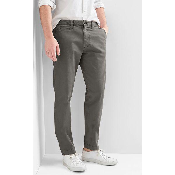 Spodnie chino Slim fit w kolorze szarym