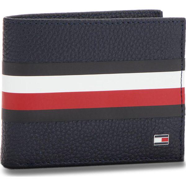 303878c72a502 Duży Portfel Męski TOMMY HILFIGER - Block Stripe Mini Cc AM0AM03875 ...