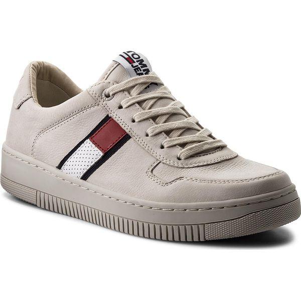 b854e8023730d Sneakersy TOMMY JEANS - Tj Nubuck Basket Sneaker EM0EM00085 Ice 101 - Buty  sportowe na co dzień męskie marki Tommy Jeans. W wyprzedaży za 379.00 zł.
