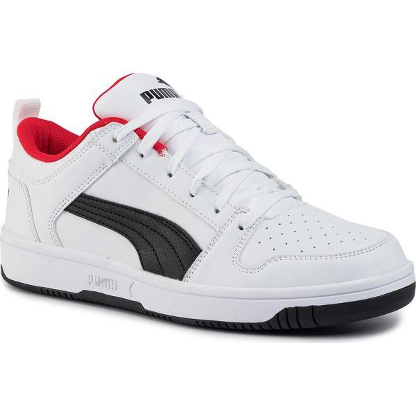 Sneakersy PUMA Rebound Layup Lo Sl 369866 01 WhiteBlackHigh Risk Red