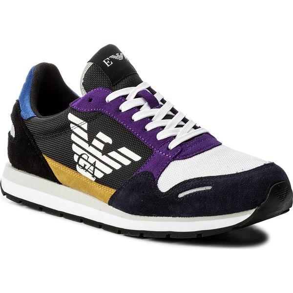29d11227527f Sneakersy EMPORIO ARMANI - X4X215 XL200 A007 Navy Multicolor - Czarne buty  sportowe na co dzień męskie marki Emporio Armani