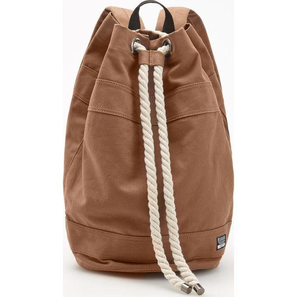 f3b75946b79e5 Plecak worek z regulacją na sznurek - Brązowy - Brązowe plecaki ...