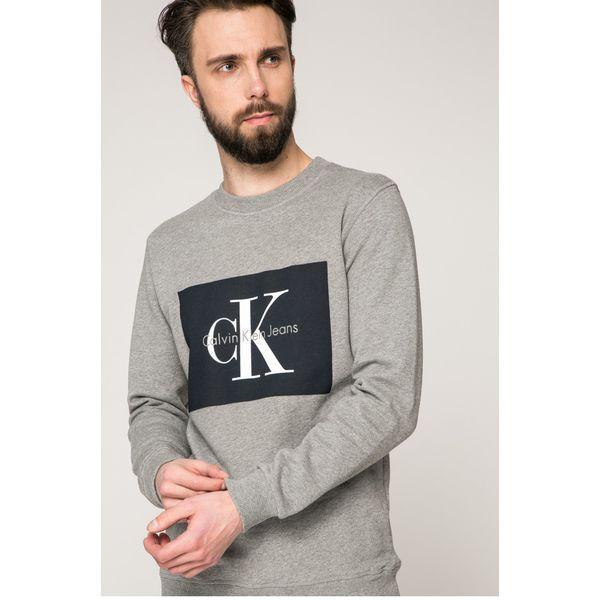dc8d17475 Calvin Klein Jeans - Bluza - Szare bluzy nierozpinane męskie Calvin ...