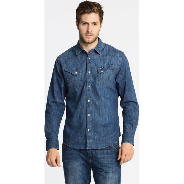 Wrangler Koszula Western Indigo Niebieskie koszule  dt10h