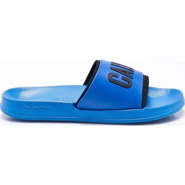 593c8355092dd Calvin Klein Jeans - Klapki - Niebieskie klapki i japonki męskie ...