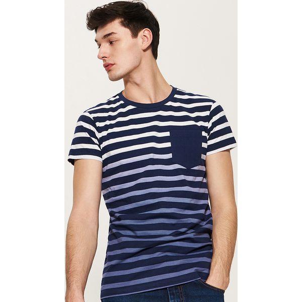 95b8f6acf9853 T-shirt w paski - Wielobarwn - Szare t-shirty męskie marki House