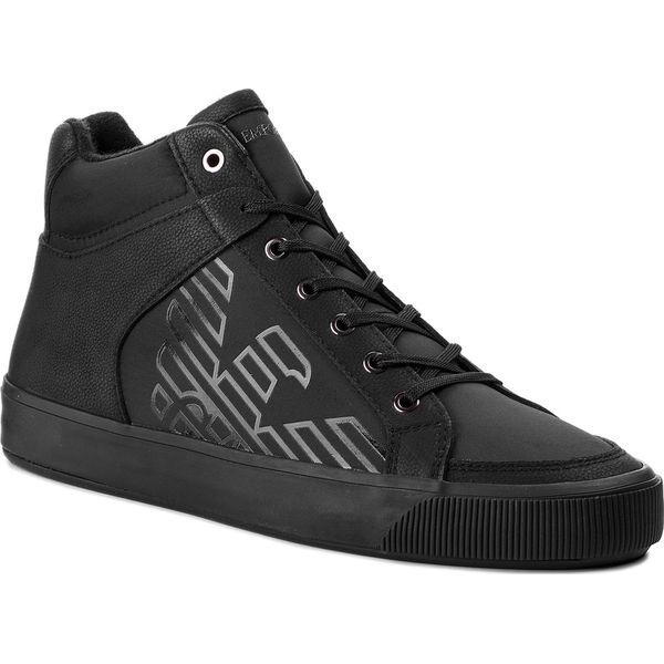 4f60e0538f260 Sneakersy EMPORIO ARMANI - X4Z074 XL456 K001 Black/Black - Czarne ...