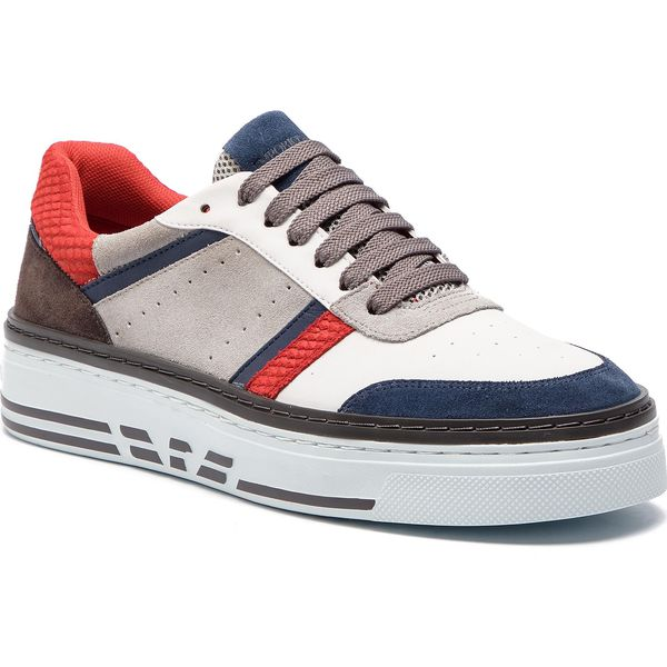 189783348fcf1 Sneakersy EMPORIO ARMANI - X4X262 XL760 P030 Blue/White/Blue/Plas ...