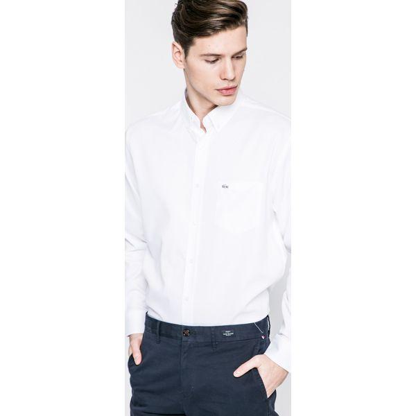 4437143bc Lacoste - Koszula - Szare koszule męskie marki Lacoste, z bawełny ...