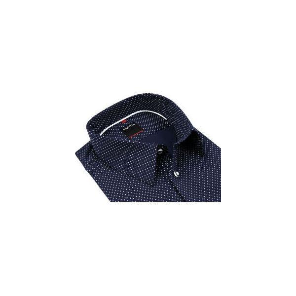da5b22f2ff90a3 Granatowa koszula męska z białym wzorem K38 - Koszule męskie Kastor ...