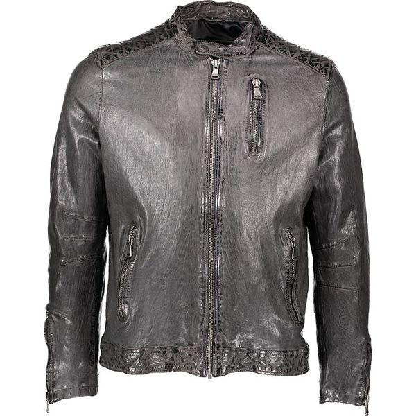 803ae46e5db9b1 Skórzana kurtka w kolorze ciemnoszarym - Szare kurtki męskie Kurtki ...