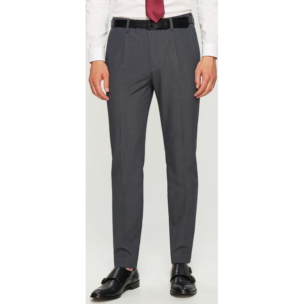 52dc50324758e Spodnie garniturowe slim fit - Szary - Szare eleganckie spodnie ...