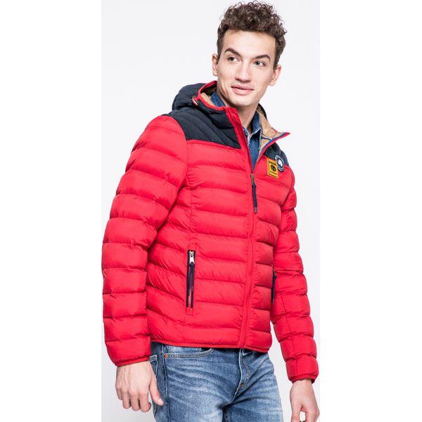 44caa5ca9f1a9 Napapijri - Kurtka - Czerwone kurtki męskie marki Napapijri, z materiału, z  krótkim rękawem. W wyprzedaży za 1,099.00 zł. - Kurtki męskie - Kurtki i ...