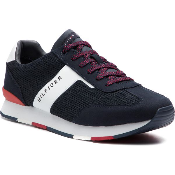 04a2e10c11667 Sneakersy TOMMY HILFIGER - Knitted Material Mix Runner FM0FM01956 ...