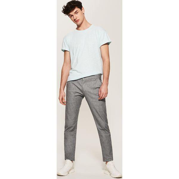 bef204ac38ef35 Spodnie typu chino - Wielobarwn - Szare eleganckie spodnie męskie ...