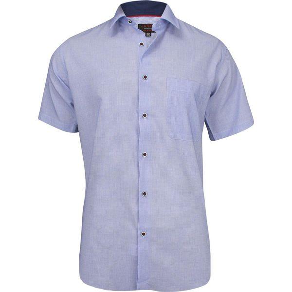 Koszule męskie z krótkim rękawem Niebieska koszula męska