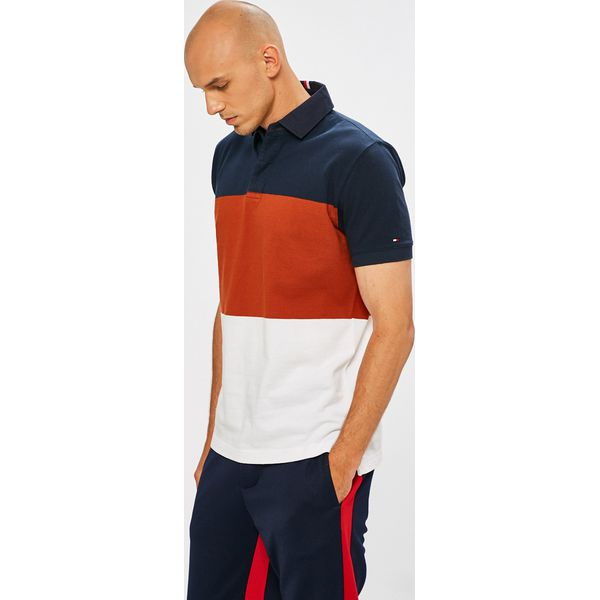 a706f7112 Tommy Hilfiger - Polo - Szare koszulki polo męskie Tommy Hilfiger, l ...